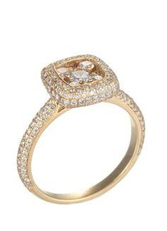Champagne Diamond Halo Ring ♥