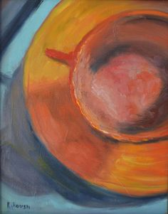 "Saatchi Online Artist: Ramona Roush; Oil 2013 Painting ""Good to the Last Drop"""