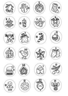 ADVENTNÍ KALENDÁŘE - TIPY - 3dmamablog.cz Diy Christmas Presents, Christmas Gift Baskets, Diy Christmas Ornaments, Christmas Colors, Christmas Tree, Advent Calendar Activities, Advent Calenders, Christmas Coloring Pages, Coloring Book Pages