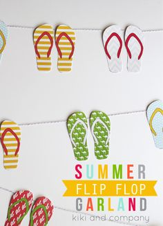DIY Letní girlanda. Summer Flip Flop Garland