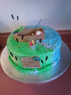 sweet n simple Best Picture For bajan Fishing Cake For Your Taste You are looking for something, and Elegant Birthday Cakes, Birthday Cakes For Men, Easy Birthday Cake Recipes, Birthday Cake For Boyfriend, Funny Birthday Cakes, Pretty Birthday Cakes, Homemade Birthday Cakes, Birthday Cake Cookies, Peanut Butter Birthday Cake