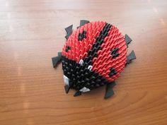 3D Origami Lady Bug Tutorial - YouTube