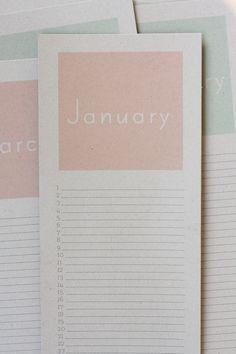 perpetual birthday calendar {free printable!}   rice designs