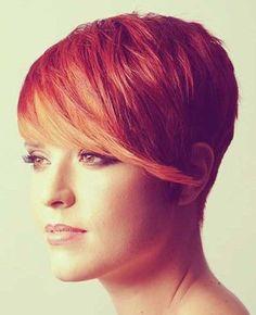 Pixie Haircuts 2014: Short Hair with Long Bangs