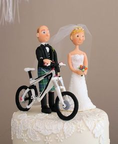 DH bike wedding toppers