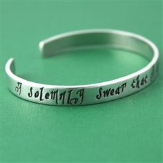 Harry Potter I solemnly swear that I am up to no good Cuff Bracelet - Spiffing Jewelry