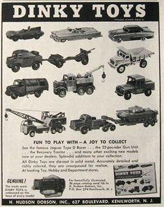 1957 VIntage Dinky Toys Die-Cast Cars & Trucks Ad