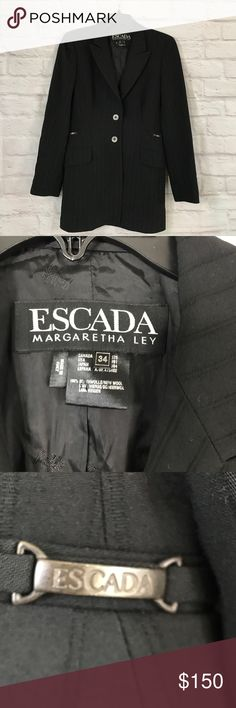 Escada Margaretha Ley wool made in Italy size 34 Gently used, length 30, pit to pit 17, waist 14.5 across Escada Jackets & Coats Blazers
