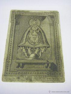 Grabado Nuestra Señora del Valle ciudad de Écija (Sevilla), plancha original de cobre del s. XVIII - Foto 1
