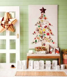 Interior Inspiration - DIY Alternative Christmas Tree Ideas - Blank canvas tree