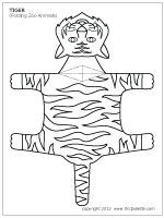Folding Zoo Animals | Printable Templates & Coloring Pages | FirstPalette.com
