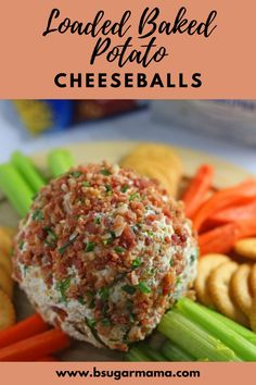 There is nothing more amazing than a huge cheese ball that can be served with crackers on game day. If you love to have your baked potato loaded with butter, sour cream, chives, cheese, and bacon, then this Loaded Baked Potato Cheese Ball is for you!