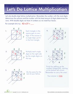 math worksheet : lattice multiplication  breaking down 2 digit multiplying or  : Lattice Multiplication With Decimals Worksheets