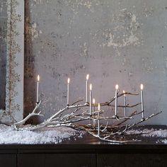 manzanita candelabra - looks like winter branches, but this is aluminium