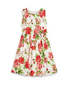 Rachel Riley - Girl's Rose Print Dress