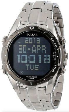 Pulsar (パルサー) PQ2001 World Time Alarm クロノグラフ Silver-Tone Watch メンズ 男性用 腕時計 ウォッチ(並行輸入)