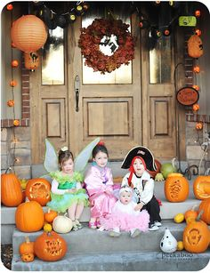 Cute Halloween Decorated Porch