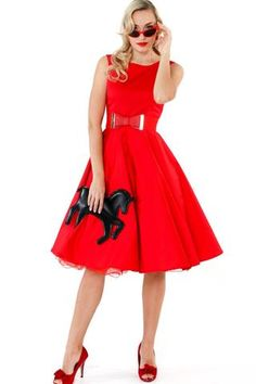 Dresses – Page 3 Races Fashion, Skirt Fashion, Fashion Outfits, 50s Style Skirts, Vintage Style Outfits, Vintage Fashion, Bow Belt, Rockabilly, Dancing