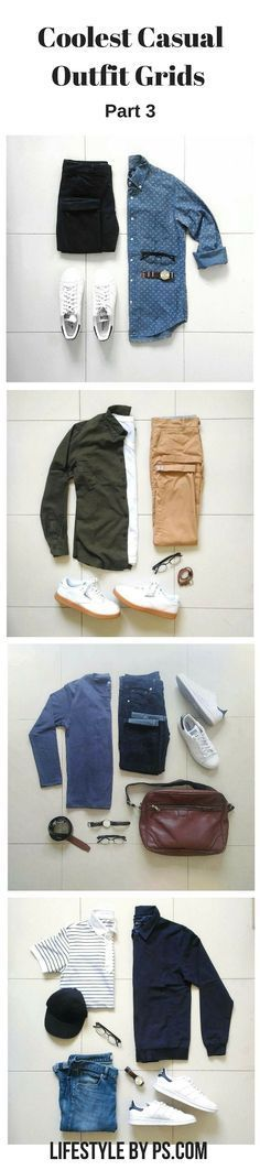 outfit grids #mens #fashion