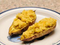 patates douces cuites en deux fois