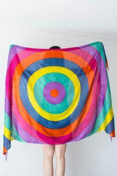 Boho Schal böhmischen Schal bunten Schal Rainbow Schal Hippie Schal Soft Schal Pareo Bikini Top Strand Handtuch Multicolor on Etsy, 22,29 €