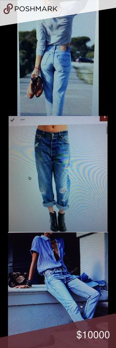 DENIM INSPIRATION. VINTAGE LEVI 501. MADE IN USA! All of these pix are of Vintage 501 Levis as listed in my closet. Everyone should have a pair of old Levis!. Browse my closet for the perfect pair. Any questions, just ask. VINTAGE LEVI 501 Jeans Straight Leg