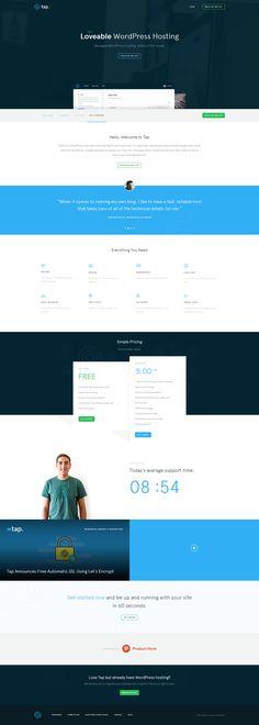 Tap - WordPress hosting website - https://thisistap.com/