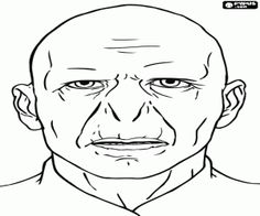 The face of Lord Voldemort coloring page