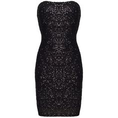 Ayanna Black Sequin Short Dress (105 AUD) ❤ liked on Polyvore featuring dresses, mini dress, sequin dress, black fitted dress, black sweetheart dress and strapless cocktail dress