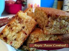 Maple Bacon Cornbread http://www.momspantrykitchen.com/maple-bacon-cornbread.html