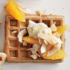 Creamy Coconut-Citrus Waffle | CookingLight.com #myplate #wholegrain #fruit