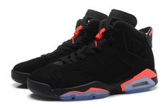 """2014 Air Jordan 6 (VI) Retro """"Black Infrared"""" Black/Black-Infrared For Sale Fly Shoes, Nike Shoes, Sneakers Nike, Air Jordans, Shoes Jordans, Jordan Retro 7, Fashion Shoes, Mens Fashion, Nike Basketball Shoes"""
