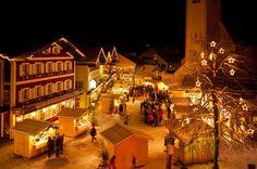 Dorpsplein Abtenau Oostenrijk