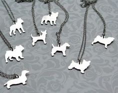Sterling Custom Puppy Silhouette Necklace