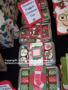 Karen's Cards n Stamps Stampin' Up! in Belleville On: Craft sale goodies and great Stampin' Up! Christmas Craft Fair, Christmas Paper Crafts, Stampin Up Christmas, Christmas Projects, All Things Christmas, Christmas Tag, Holiday Crafts, Christmas Ideas, Craft Gifts
