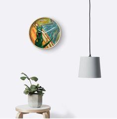 "Dinosaur ""the scream"" wall clock."