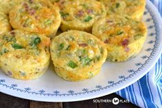 Muffin Tin Omelets ~ http://www.southernplate.com