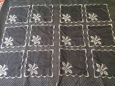 Olay, Quilts, Black And White, Model, Cross Stitch Embroidery, Hardanger, Blanco Y Negro, Patch Quilt, Quilt