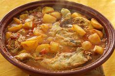 Tajine de poulet et pommes de terre