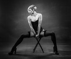 Natalie by J.A Kamfjord / Curvy, Stockings, Feminine, Poses, Female, Portrait, Sexy, Photography, Beauty