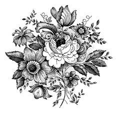 NEW  Vintage Rose Large Clear Stamp by Jodie от jodieleedesigns