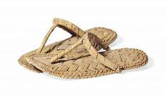 56b1881b5 Egyptian Plaited Palm Leaf Sandals. New Kingdom, Dynasty XVIII-XX, circa  1550