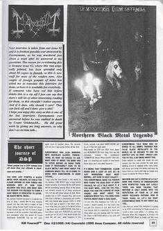 Black Metal, 80s Heavy Metal, Kingdom Come, Music Stuff, Zine, Interview, Aesthetic Dark, Letters, Fairy