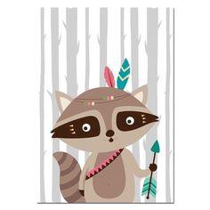 Tribe Woodland Animal Bear Fox Wall Art Canvas Nordic Poster Nursery P – Retrodora Nursery Canvas Art, Nursery Prints, Canvas Art Prints, Canvas Wall Art, Scrapbooking Image, Tribal Animals, Tribal Bear, Lapin Art, Cartoon Painting
