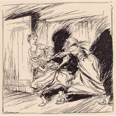 The Old Woman Seized Her By The Gown And Tried To Hold Her Fast Illustration By Arthur Rackham From Grimms Fairy Tale The Enchanted Tree Canvas Art - Ken Welsh Design Pics (24 x 24)