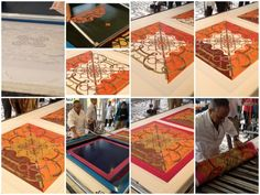 The making of an Hermes scarf. Luxury and craftsmanship at its finest.