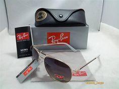 68a4c276c6 Ray Ban Aviator RB3026 Silver Frame Dark Purple Lens Sunglasses Justin Ray