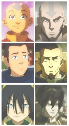 avatar the last airbender Before and After Before and After Avatar Aang, Avatar Airbender, Avatar Legend Of Aang, Team Avatar, The Legend Of Korra, Aang The Last Airbender, Zuko, The Last Avatar, Desenhos Love