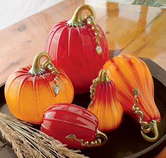 Sunrise Pumpkins and Squash in Fall Preview 2012 from Artful Home