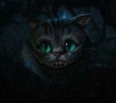 Chesire Cat - Alice in Wonderland - Tim Burton Cheshire Cat Tim Burton, Cheshire Cat Grin, Cheshire Cat Alice In Wonderland, Chesire Cat, Cheshire Cat Tattoo, Tattoo Cat, Cheshire Cat Drawing, Art Tim Burton, Tim Burton Kunst